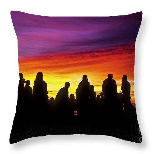 Haleakala Sunrise Throw Pillow featuring the photograph Haleakala Color Show by Jim Cazel