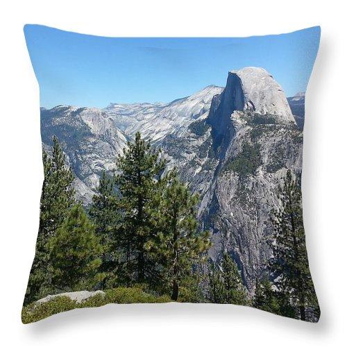 Half Dome Throw Pillow featuring the photograph Half Dome 2 by Derek Ryan Jensen