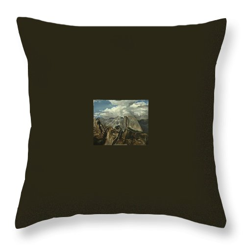 Throw Pillow featuring the painting Half Dome by Travis Day