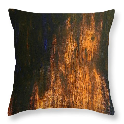 Mystery Throw Pillow featuring the painting Half-faced 2007 by RalphGM