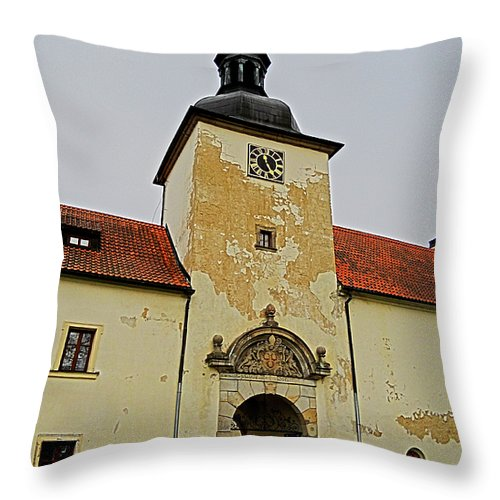 Europe Throw Pillow featuring the photograph Half Past Eleven ... by Juergen Weiss