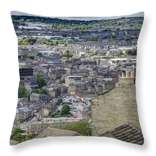 Halifax Throw Pillow featuring the photograph Halifax Panoramic View 4 by Mike Walker