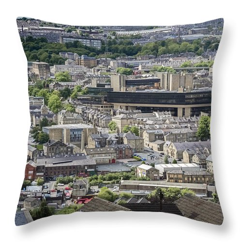 Halifax Throw Pillow featuring the photograph Halifax Panoramic View 5 by Mike Walker