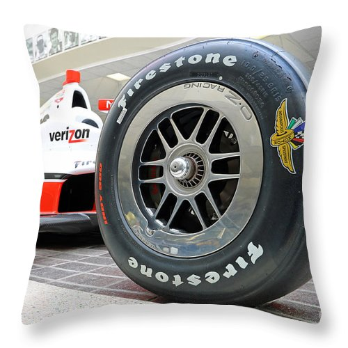 Indianapolis Throw Pillow featuring the photograph Hall Of Fame Museum At Indianapolis, Indiana by Steve Gass