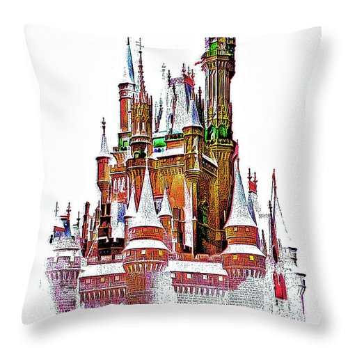 Castle Throw Pillow featuring the photograph Hall Of The Snow King by Steve Harrington