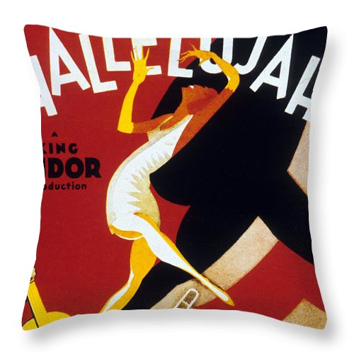 Jazz Throw Pillow featuring the drawing Hallelujah by American School