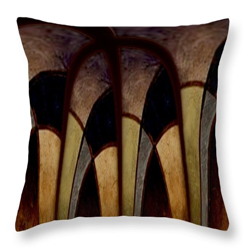 Hallowed Hills Throw Pillow featuring the painting Hallowed Hills by Jill English