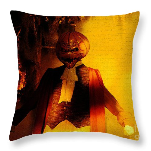 Halloween Throw Pillow featuring the digital art Halloween Nightmare by David Lee Thompson