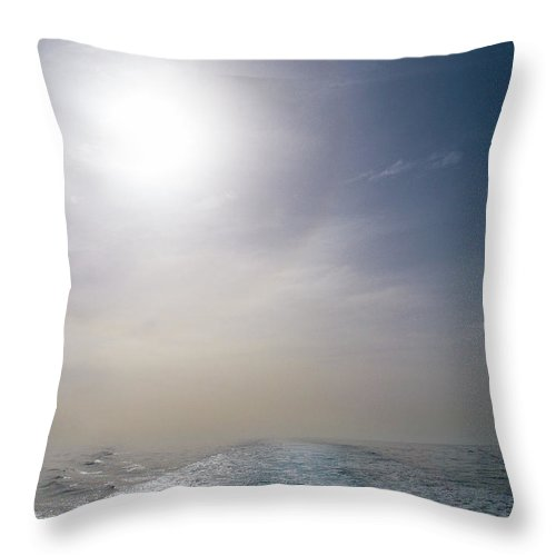 Valasretki Throw Pillow featuring the photograph Halo Over Atlantic Ocean by Jouko Lehto