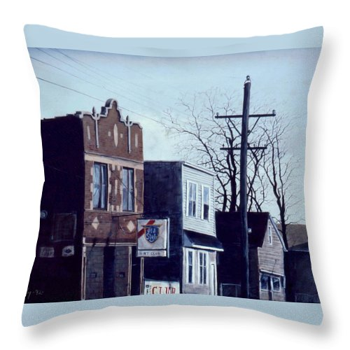 Urban Throw Pillow featuring the painting Halsted by William Brody