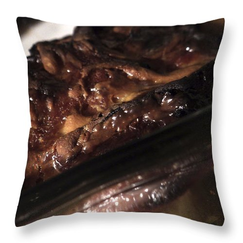 Food Throw Pillow featuring the photograph Ham And Potatoes by Joseph A Langley