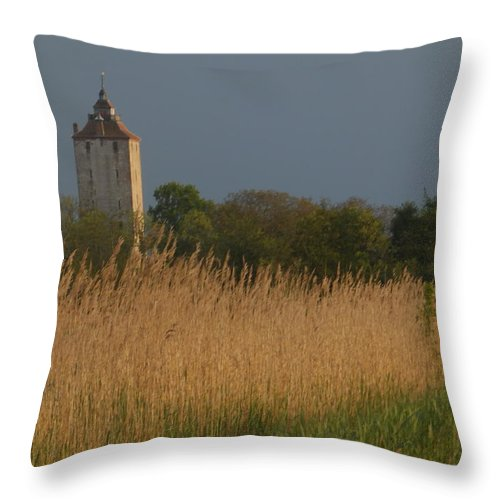 Landscape Throw Pillow featuring the photograph Ham Tower 2 by Frozen Fantasy
