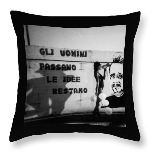 Cemento Throw Pillow featuring the photograph Hammerhoi by Alessandra Gianfrate