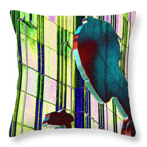 Seattle Throw Pillow featuring the digital art Hammering Man 3 by Tim Allen