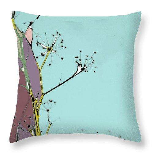 Tiffany Blue Throw Pillow featuring the digital art Hamptons Tiffany by Ceil Diskin