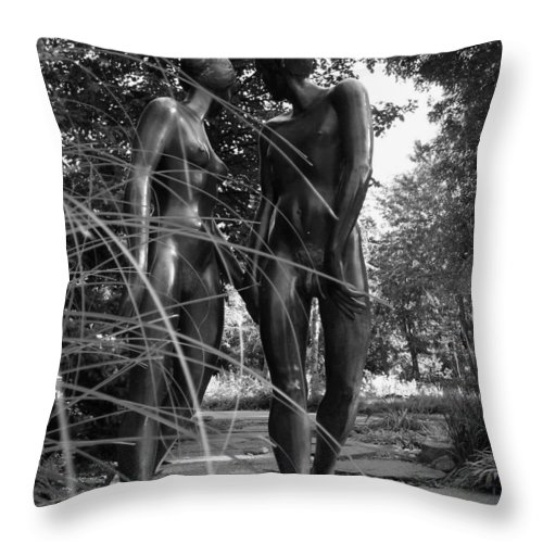 Nature Throw Pillow featuring the photograph Hand In Hand by Juergen Weiss