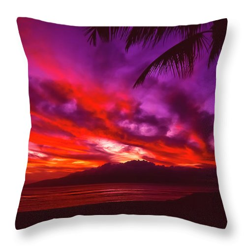 Landscapes Throw Pillow featuring the photograph Hand Of Fire by Jim Cazel