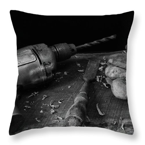 Still Life's Throw Pillow featuring the photograph Hand Tools 3 by Richard Rizzo