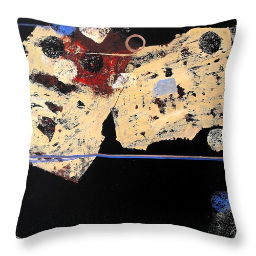 Abstract Throw Pillow featuring the painting Hangin' Around by Ruth Palmer