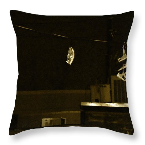 Throw Pillow featuring the photograph Hanging Around by Brian Sloan