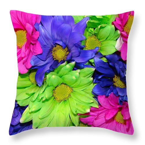 Flowers Throw Pillow featuring the photograph Happiness by J R  Seymour