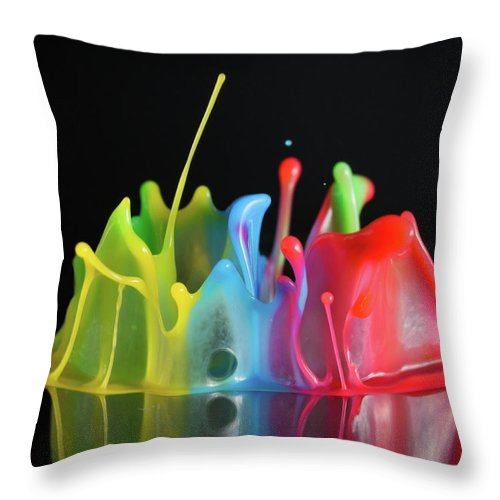Macro Throw Pillow featuring the photograph Happy Birthday by William Freebilly photography