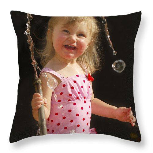Happy Contest Throw Pillow featuring the photograph Happy Contest 2 by Jill Reger