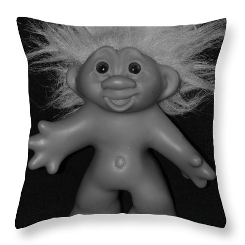 Happy Throw Pillow featuring the photograph Happy Troll by Rob Hans