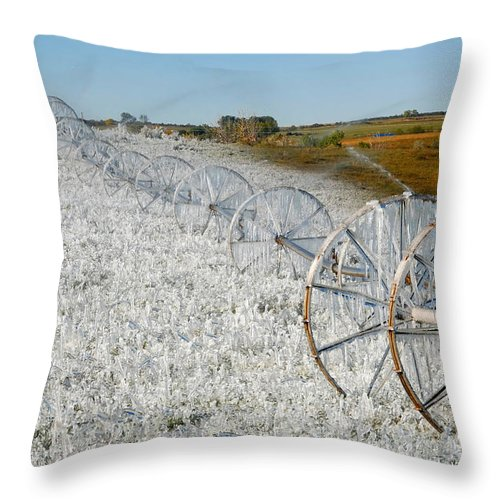 Farm Throw Pillow featuring the photograph Hard Land Farming by David Lee Thompson