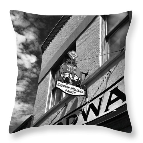 Fine Art Photography Throw Pillow featuring the photograph Hardware by David Lee Thompson