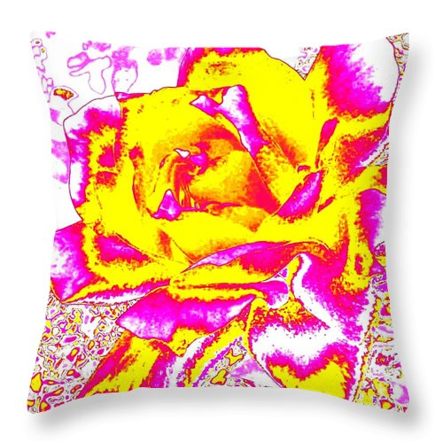 Abstract Throw Pillow featuring the digital art Harmony 12 by Will Borden