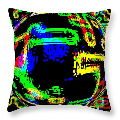 Abstract Throw Pillow featuring the digital art Harmony 13 by Will Borden