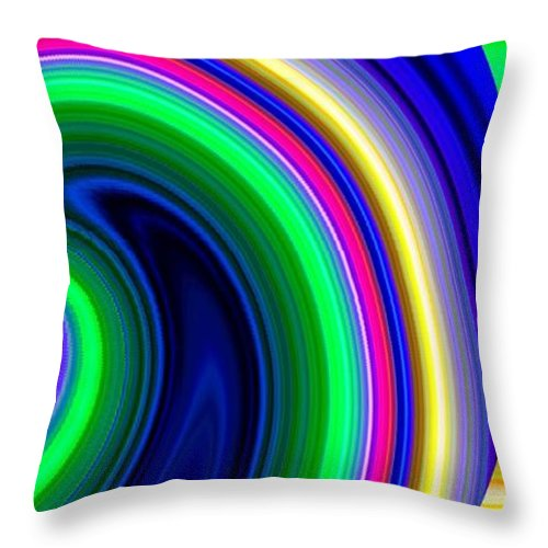 Abstract Throw Pillow featuring the digital art Harmony 19 by Will Borden