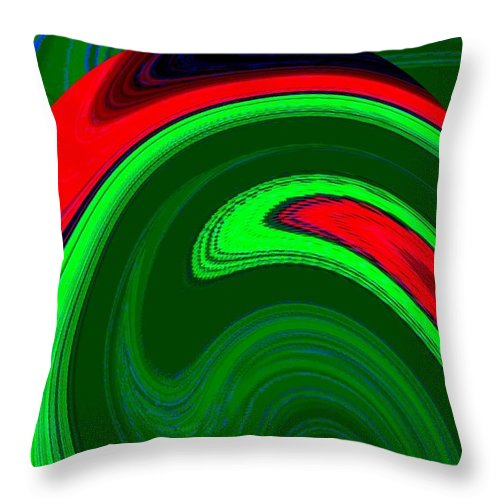 Abstract Throw Pillow featuring the digital art Harmony 20 by Will Borden