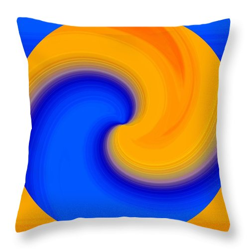 Abstract Throw Pillow featuring the digital art Harmony 23 by Will Borden