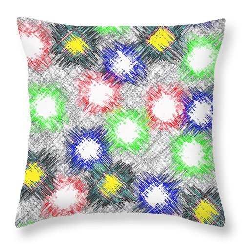 Abstract Throw Pillow featuring the digital art Harmony 32 by Will Borden