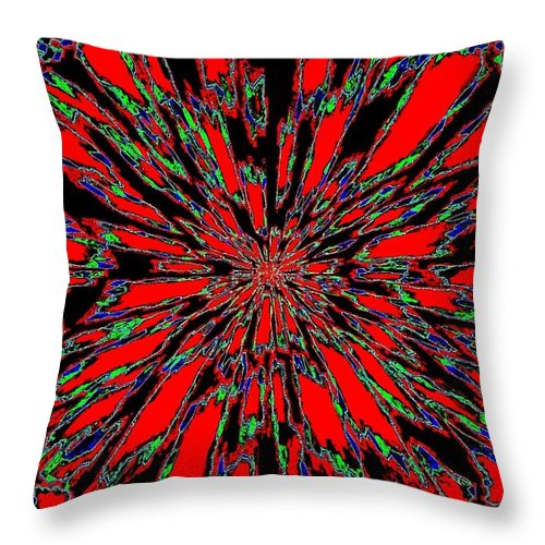 Abstract Throw Pillow featuring the digital art Harmony 37 by Will Borden