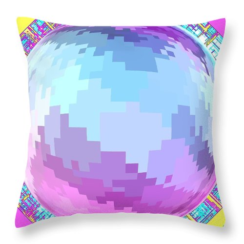 Abstract Throw Pillow featuring the digital art Harmony 4 by Will Borden