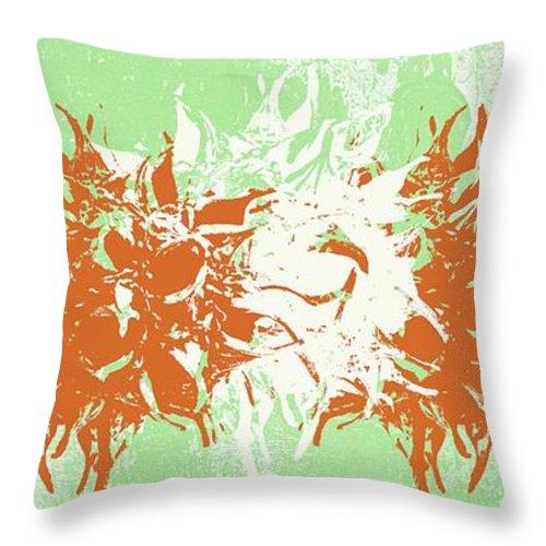 Harmony Throw Pillow featuring the mixed media Harmony by Linda Woods