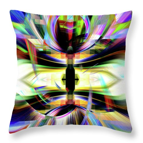 Healing Throw Pillow featuring the digital art Harnessing Your Power by Autumn Dawn