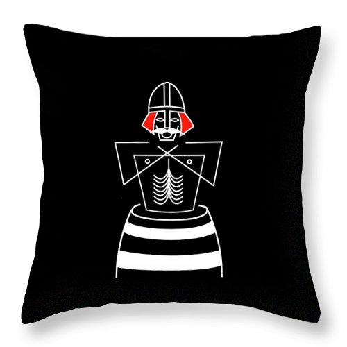 Bluetooth Throw Pillow featuring the mixed media Harold Bluetooth by Asbjorn Lonvig