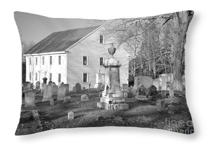 Maine Throw Pillow featuring the photograph Harrington Meetinghouse -bristol Me Usa by Erin Paul Donovan