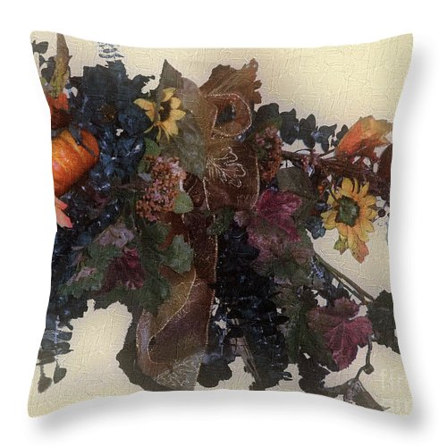 Autumn Throw Pillow featuring the painting Harvest Home by RC DeWinter