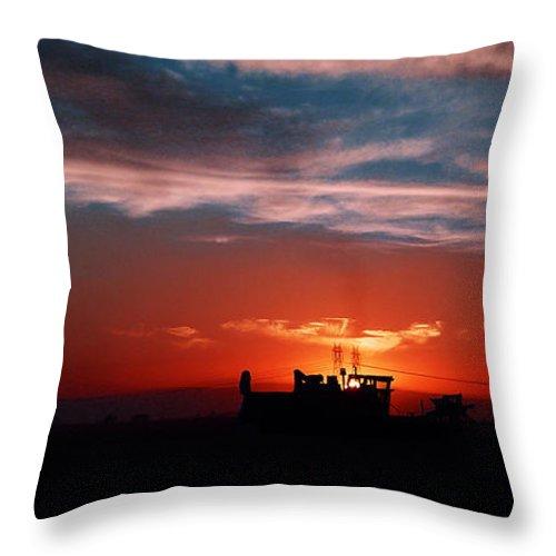 Sunset Throw Pillow featuring the photograph Harvest by Peter Piatt