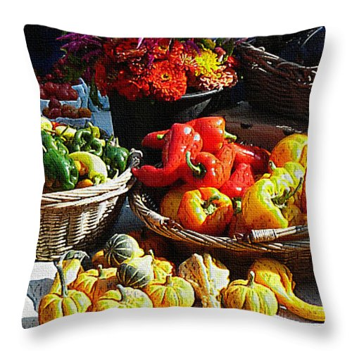Ebsq Throw Pillow featuring the photograph Harvest Table by Dee Flouton