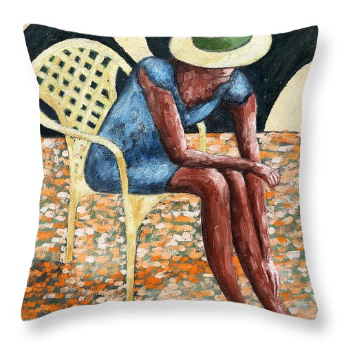 Valentine Throw Pillow featuring the painting HAT by Patrick J Murphy