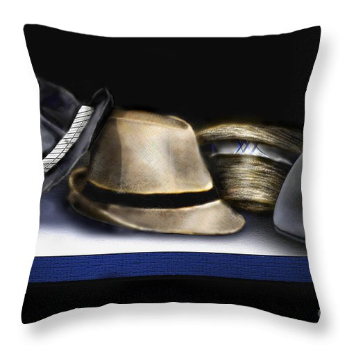 Still Life Painting Throw Pillow featuring the painting Hats by Reggie Duffie