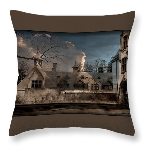 Stable Throw Pillow featuring the photograph Haunted Stable by Fran J Scott