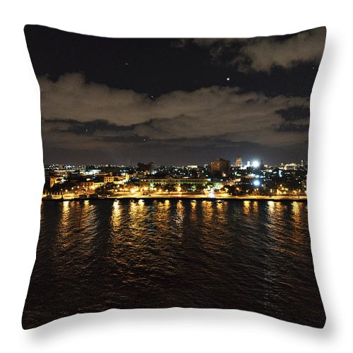 Cuba Throw Pillow featuring the photograph Havana Nights by Sharon Popek