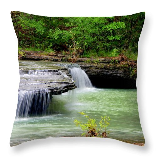 Waterfalls Throw Pillow featuring the photograph Haw Creek Falls by Marty Koch